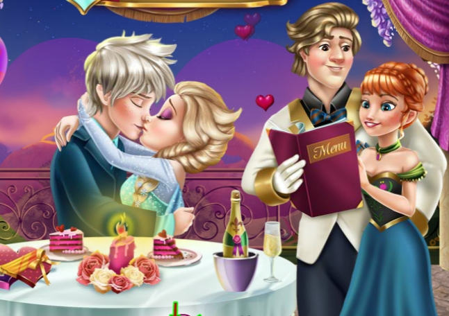 Elsa Valentines Day Kiss Game