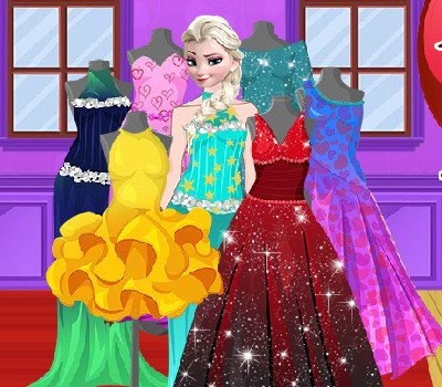 Elsa Valentine Dress Design Game