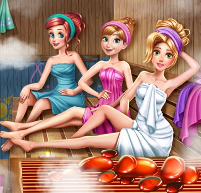 Disney Princesses Sauna Realife Game
