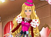 Barbies Valentine Patchwork Dress H5 Game