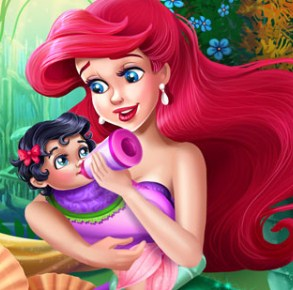 Mermaid Baby Feeding Game