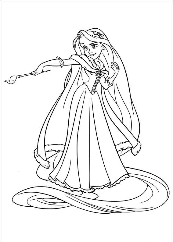 Rapunzel-Holding-Painting-Brush Game