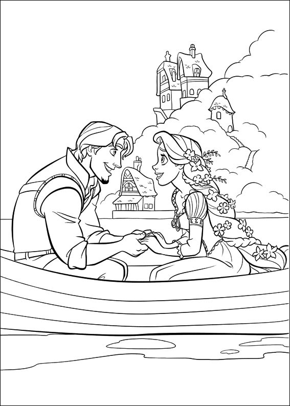 Flynn-And-Rapunzel-On-Boat Game