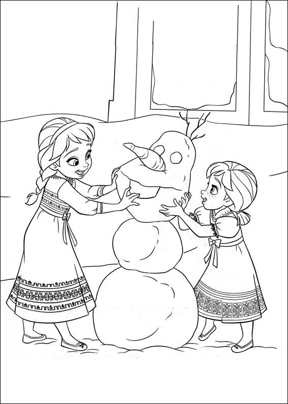 Elsa-And-Anna-Building-Olaf Game