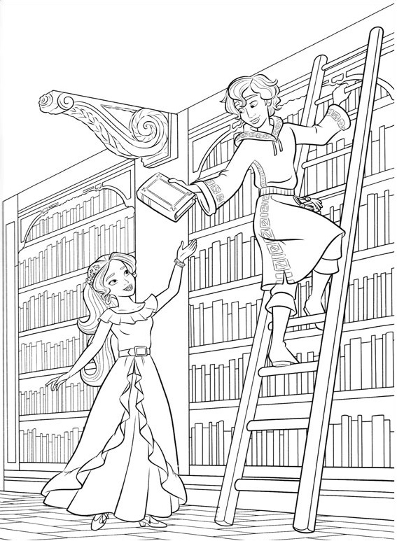 Elena-And-Mateo-In-Library Game