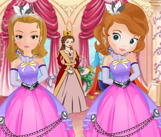 Princess Sofia and Amber Bridesmaids Game