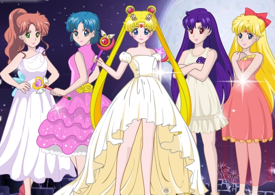 Sailormoon Cyrstal Dress Up Game