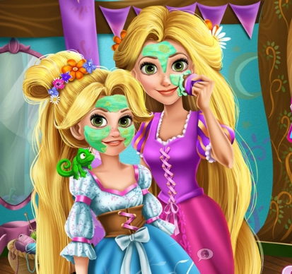 Mommy Rapunzel Real Makeover Game