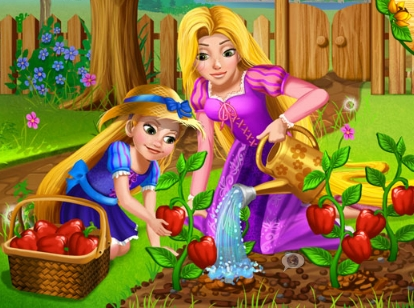 Rapunzel Mommy Gardening Game