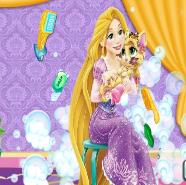 Rapunzel Messy Cat Game