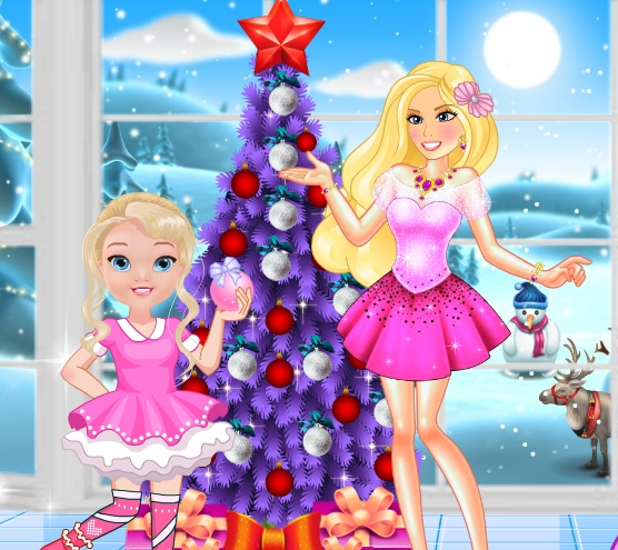 Princess Barbie And Baby Barbie Christmas Fun Game