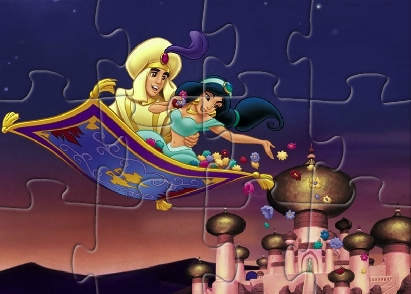 Aladdin And Jasmine Puzzle Game