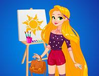 Rapunzel Art School Game