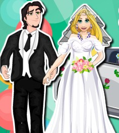 Rapunzel Wedding Car Wash Game