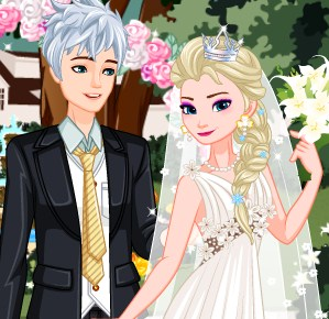 Elsa Retro Wedding Game